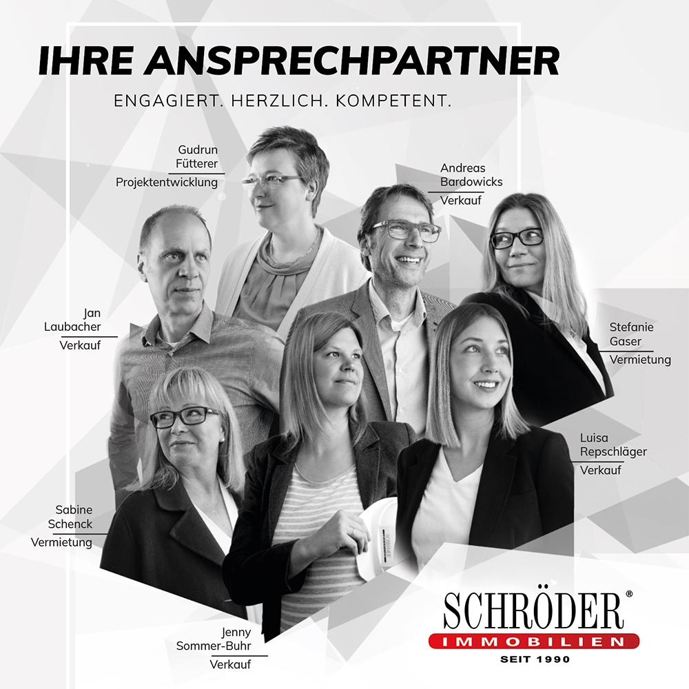 Ihre Ansprechpartner bei Schröder Immobilien